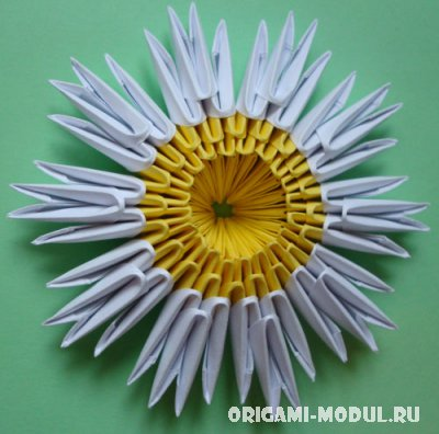 Как сделать ромашку оригами из модулей
