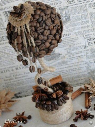 Как делать поделки из кофейных зерен видео