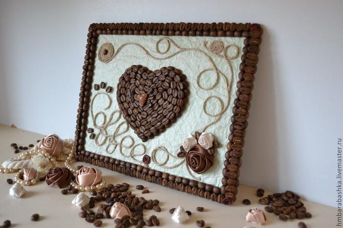 Как сделать картину из кофейных зерен своими руками