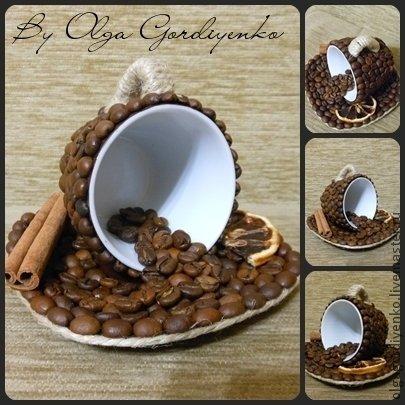 Кружки из кофейных зерен мастер класс