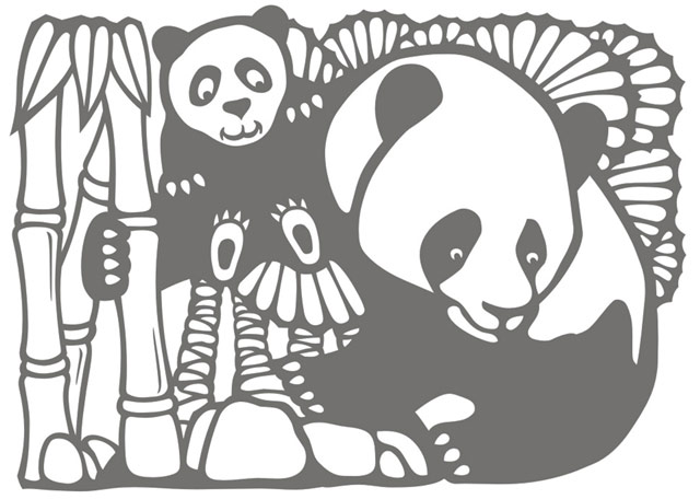 Панда-трафарет