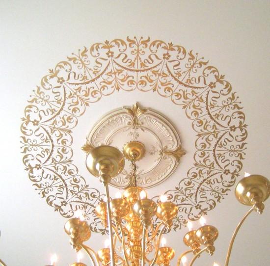 Шаблон для декора потолка