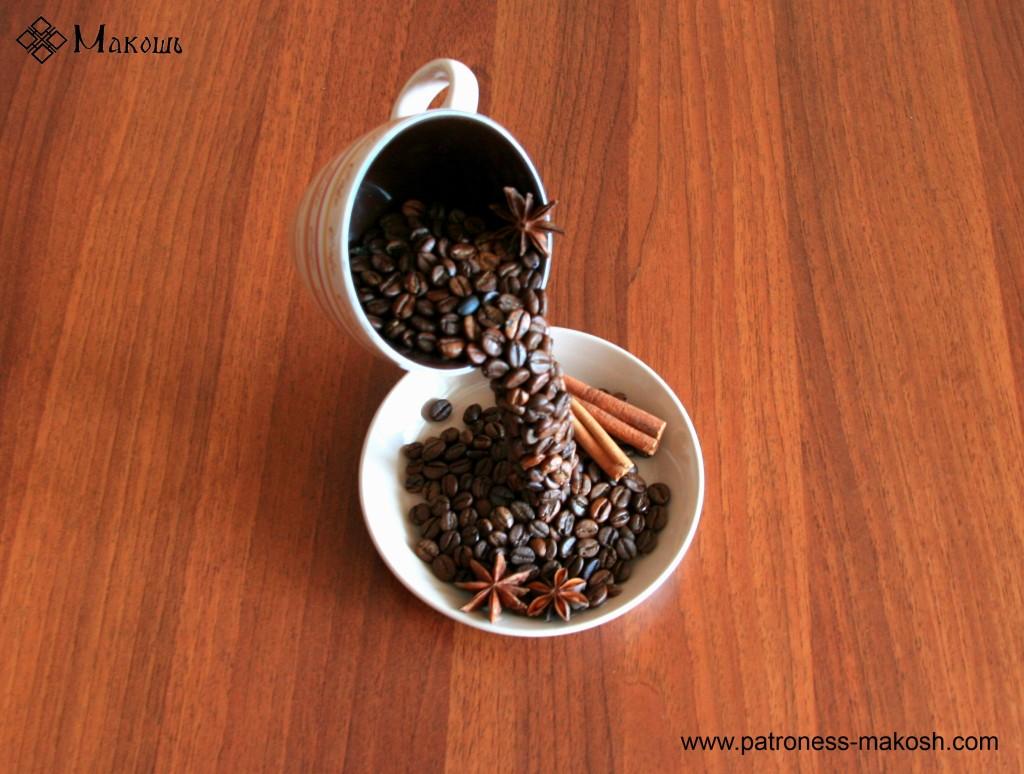 Красная чашка с кофе своими руками