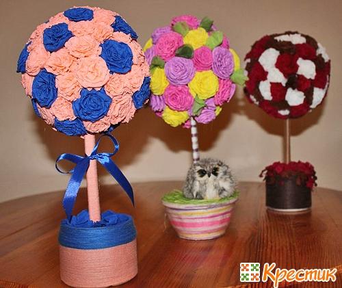 Топиарий мастер класс видео цветы