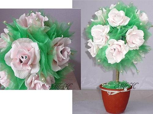 Топиарий из цветов своими руками пошагово 32