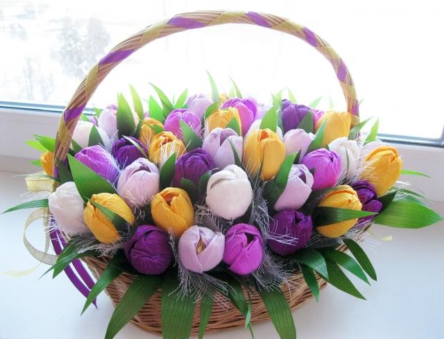 Сделать букет из конфет тюльпаны своими руками пошаговое фото