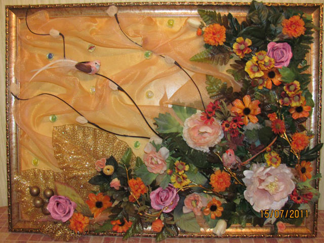 Красивые картины своими руками из цветов