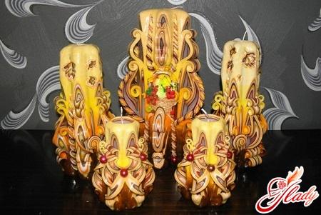 Резные свечи своими руками фото
