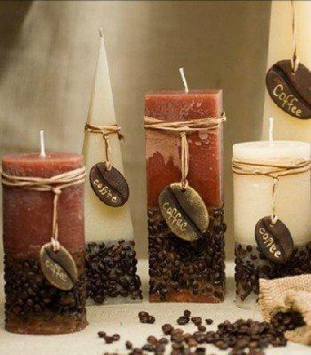 Свечка из кофе своими руками
