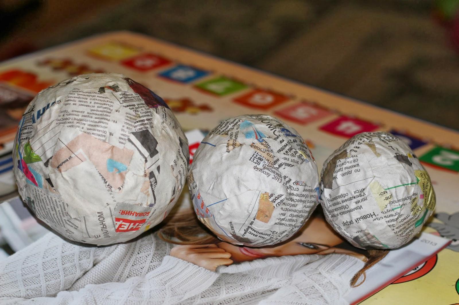 Как сделать шар из бумаги для топиария своими руками