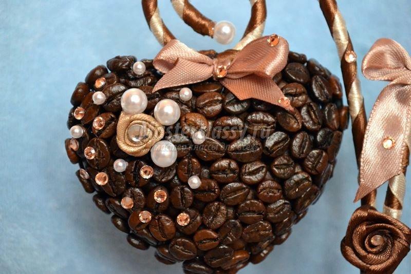 Кофейное дерево сердцем фото - Мастер класс Волшебное кофейное дерево своими руками
