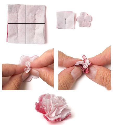 Как делать цветочек из салфеток своими руками