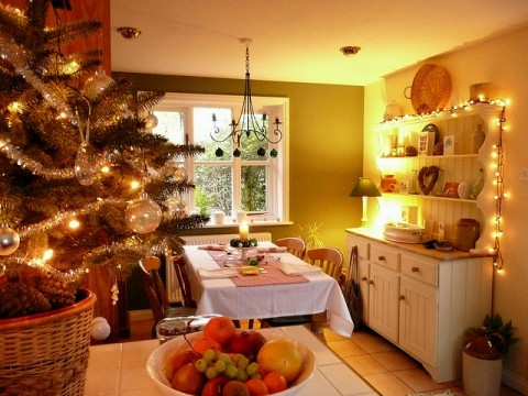 Украшение кухни на новый год