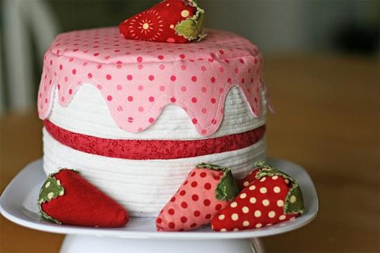 Как сделать торт из ткани