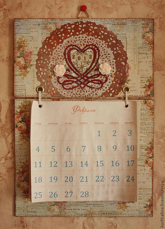 Как сделать календарь своими руками онлайн