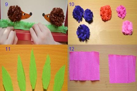 Поделки из гофробумаги для детей