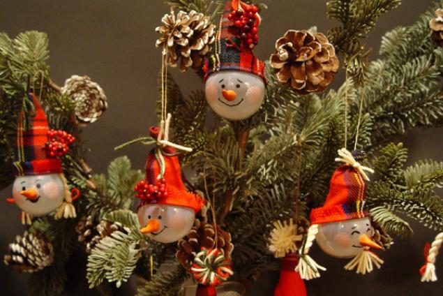 Как сделать новогоднею игрушку на ёлку своими руками