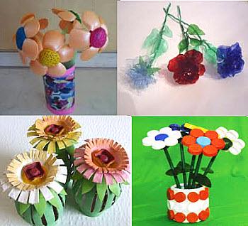 цветок из бросового материала - фото и видео уроки