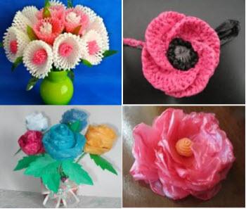 цветы из подручных материалов своими руками - МК и фото