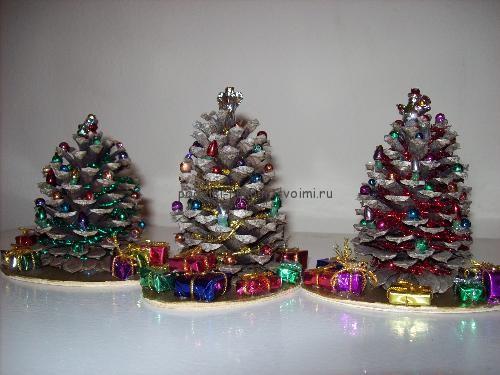 Поделка новогодняя елка своими руками из подручных