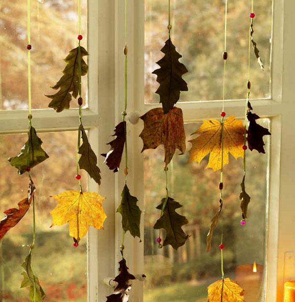 Украшения интерьера своими руками осень