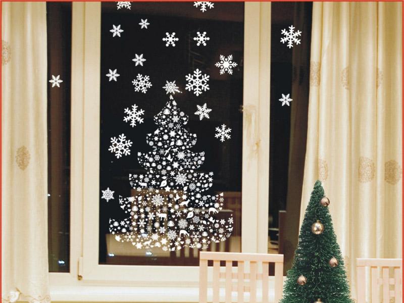 Украсить окно на новый год своими руками фото