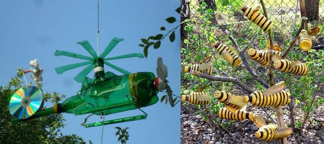 Поделки для дачи и сада своими руками: из дерева, пластиковых бутылок, покрышек и шин - смотреть видео (видео)