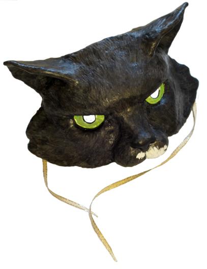 Как сделать маску кошки из папье-маше