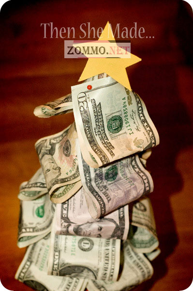 Подарок из долларовых купюр