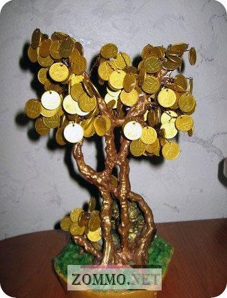 Как сделать денежное дерево фото