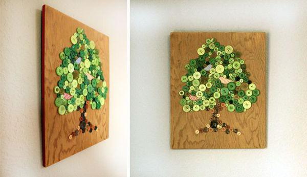 Картины сделанные своими руками из подручных материалов