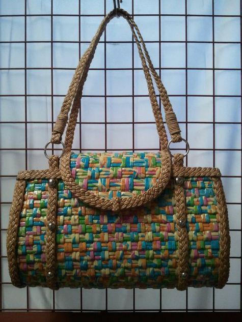 Плетение из газетных трубочек сумка