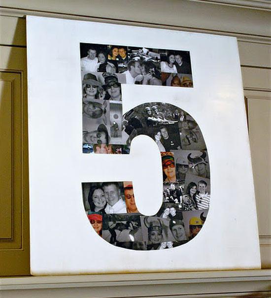 Как сделать цифру 5 на день рождения своими руками