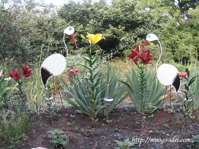 Цветы из подручного материала для сада своими руками