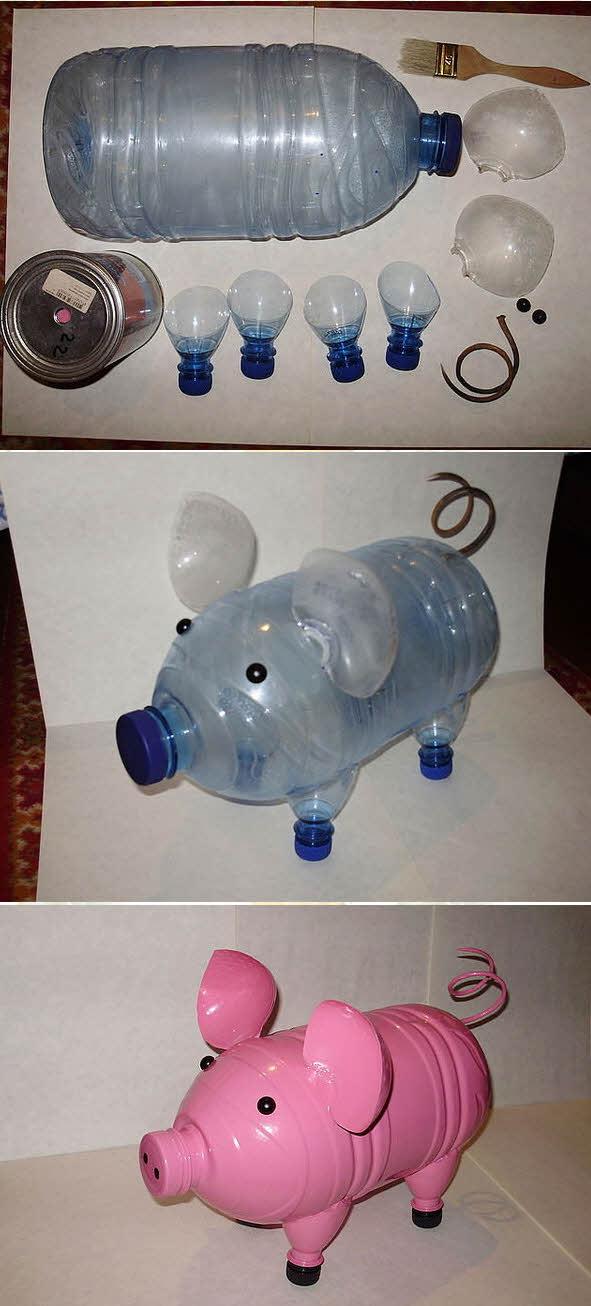 Простые поделки из бутылок своими руками для детей