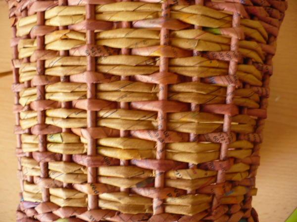 Узоры для плетения из газетных трубочек видео