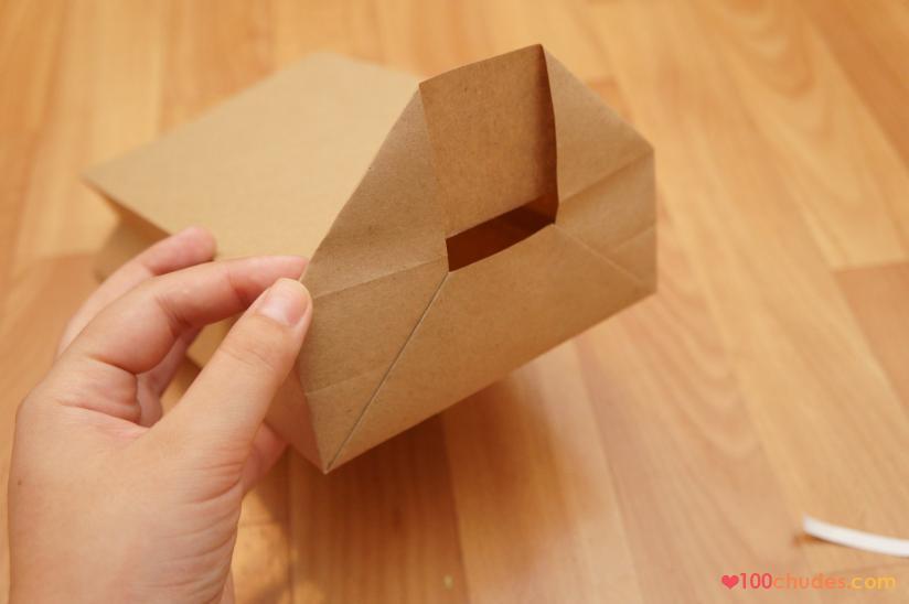 Как сделать пакет из крафт-бумаги