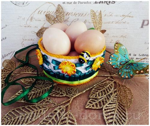 Пасхальные яйца  с подручными материалами фото