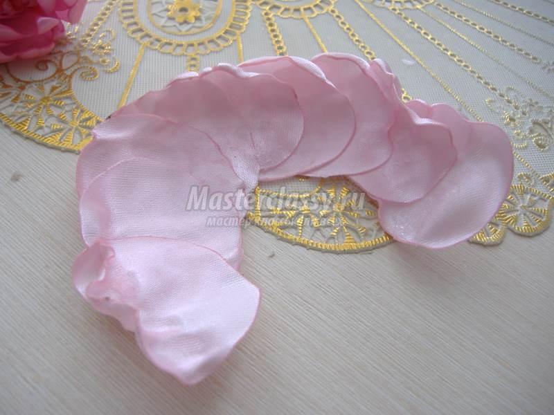 Староанглийская роза из атласных лент. Мастер-класс с пошаговыми фото. Master classy - мастер классы