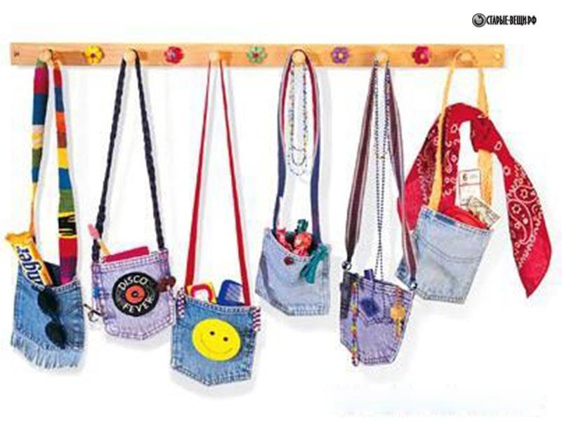 Детская сумочка из джинсы