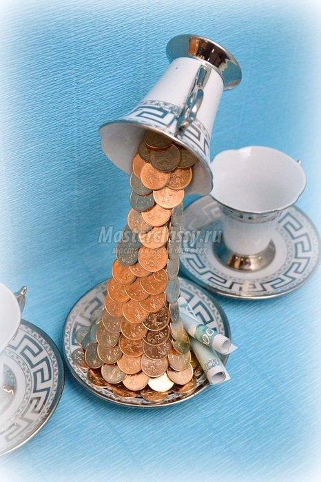 Как сделать своими руками денежный топиарий