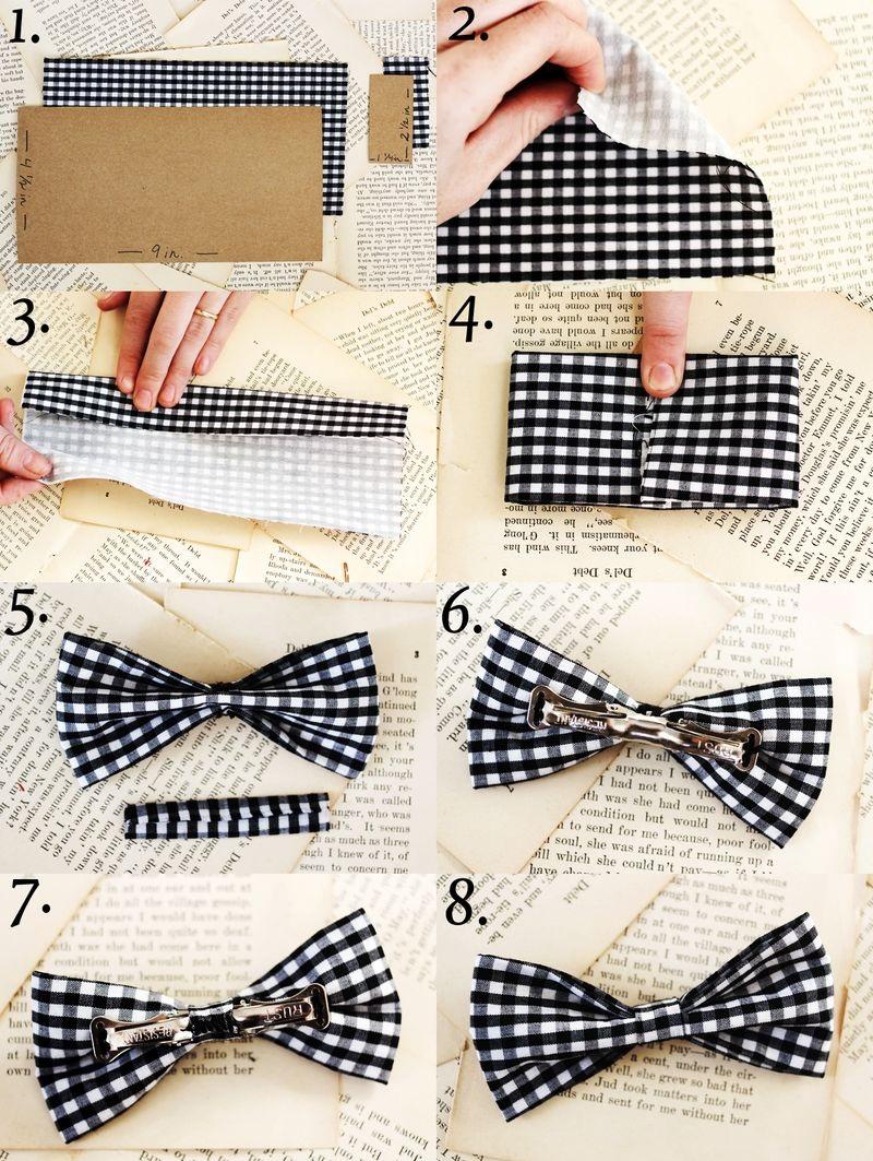 Как делать бабочку-галстук