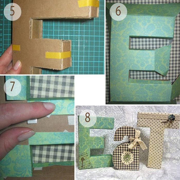 Как сделать букву своими руками из картона