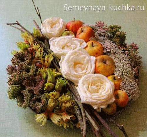 Осенние композиции из природного материала фото