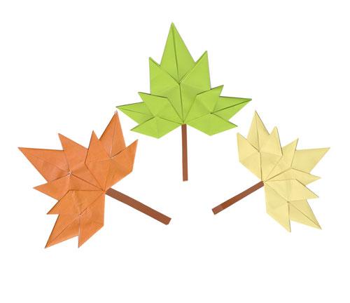 Кленовые листья оригами схема