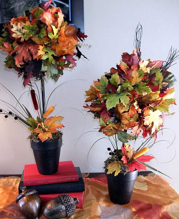 Поделки на тему осень деревья в горшках