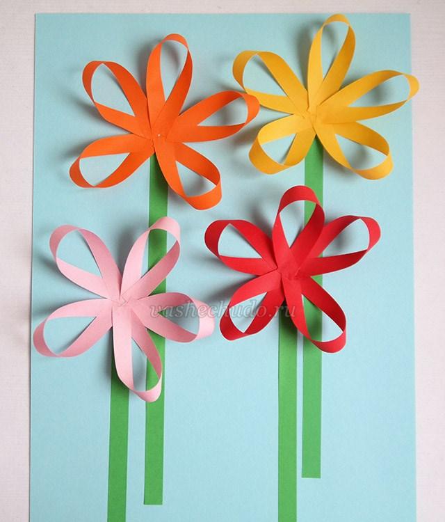Цветы из бумаги для детей 7 лет из бумаги 101