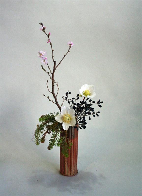 Икебана из цветов своими руками фото из 75