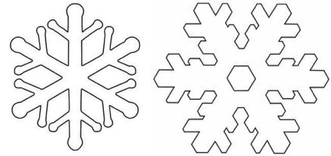 Шаблоны новогодних снежинок своими руками