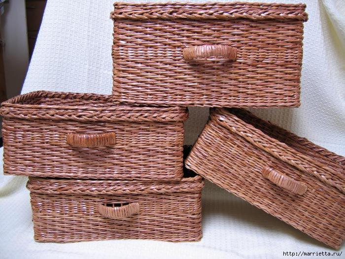 Плетение корзин из газет пошагово